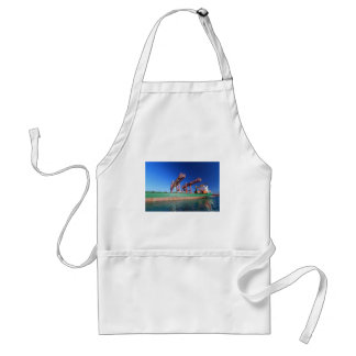 moored container ship adult apron