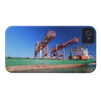 moored container ship iPhone 4 Case-Mate case