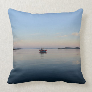 Moored In The Isles Of Scilly At Dusk Throw Pillow