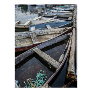 Moored Small Boats In Perkins Cove Poster