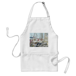 Moored yachts creating an amazing abstract design adult apron
