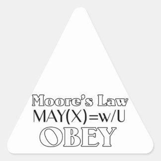 Moore's Law Triangle Sticker