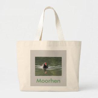 Moorhen and Reflection Jumbo Tote Bag