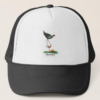 Moorhen bird, tony fernandes trucker hat