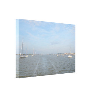 Moorings On The River Crouch Canvas Print