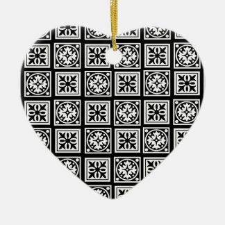 moorish adorno navideño de cerámica en forma de corazón