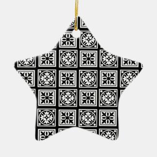 moorish adorno navideño de cerámica en forma de estrella