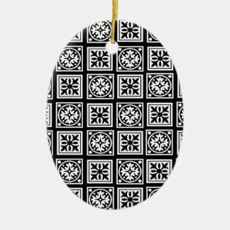 moorish adorno navideño ovalado de cerámica