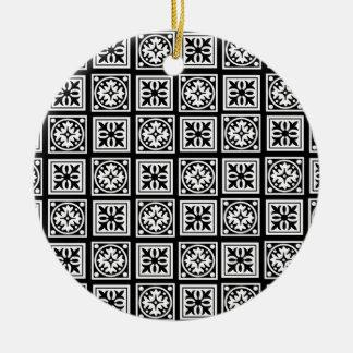 moorish adorno navideño redondo de cerámica