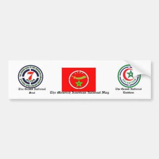 Moorish American National Bumper Sticker Car Bumper Sticker