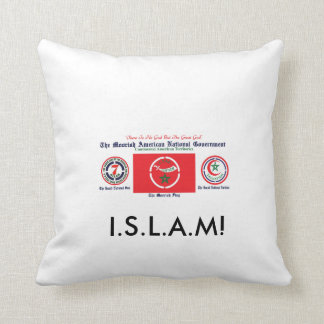 Moorish American National Goverment throw pillow