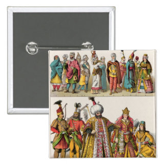 Moorish and Turkish Dress Pinback Button