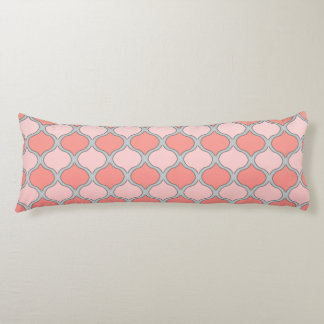 Moorish Arabesque (Pink, Coral, Gray) Body Pillow