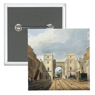 Moorish Arch, Looking from the Tunnel, plate 10 fr Button