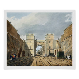 Moorish Arch, Looking from the Tunnel, plate 10 fr Poster