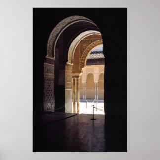 Moorish arch, The Alhambra, Poster