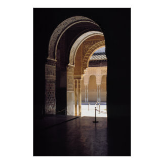 Moorish arch, The Alhambra, Print