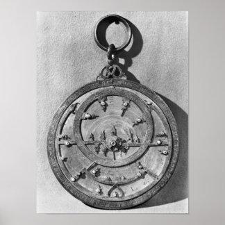 Moorish astrolabe, from Cordoba, 1054 Poster