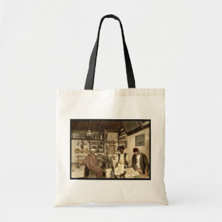 Moorish coffee house, Algiers, Algeria vintage Pho Budget Tote Bag