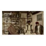 Moorish coffee house, Algiers, Algeria vintage Pho Business Card