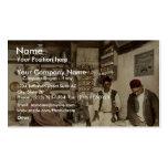 Moorish coffee house, Algiers, Algeria vintage Pho Business Card Template