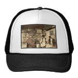 Moorish coffee house, Algiers, Algeria vintage Pho Mesh Hat