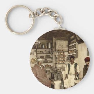 Moorish coffee house, Algiers, Algeria vintage Pho Keychain