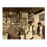 Moorish coffee house, Algiers, Algeria vintage Pho Post Card