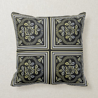 Moorish Floral Tile Throw Pillows
