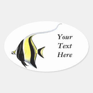 Moorish Idol Fish Customizable Sticker