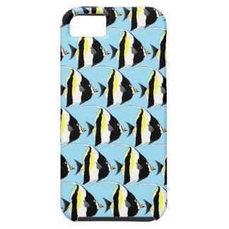 Moorish Idol fish pattern in blue iPhone SE/5/5s Case