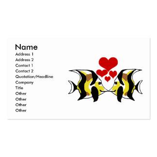 Moorish Idol  kissing business cards