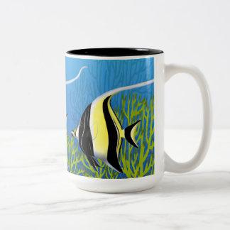 Moorish Idol Pacific Reef Fish Mug