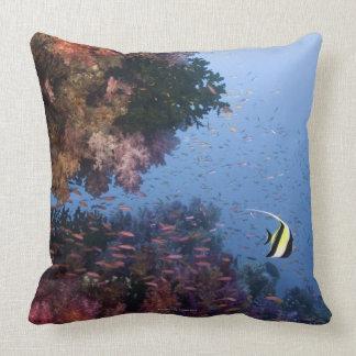 Moorish Idol Throw Pillows