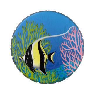 Moorish Idol Reef Fish Candy Tin