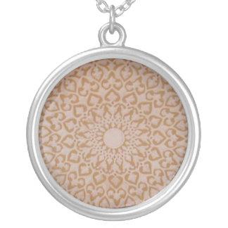 Moorish Islamic Arabic decorative  design Silver Plated Necklace