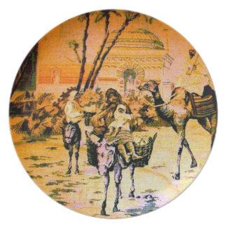 Moorish Market-Evening Plate