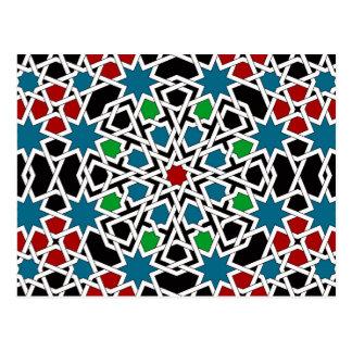 Moorish Pattern 2013 Calendar Postcard