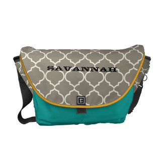 Moorish Pattern You Choose Colors Courier Bag