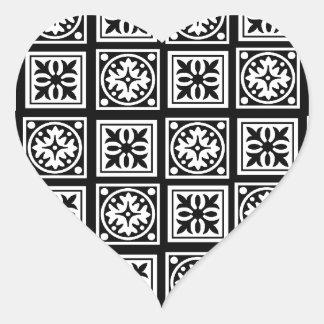 moorish pegatina en forma de corazón