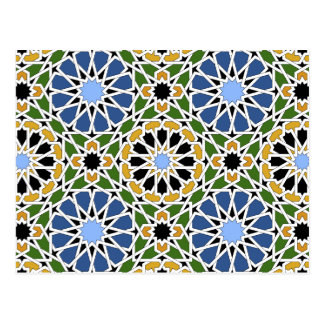 Moorish tile 2012 Calendar Postcard