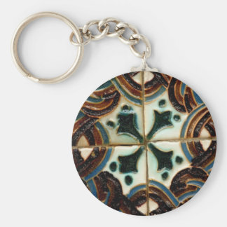 Moorish tile keychain