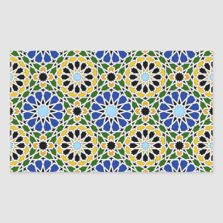 Moorish tile Rectangle Sticker