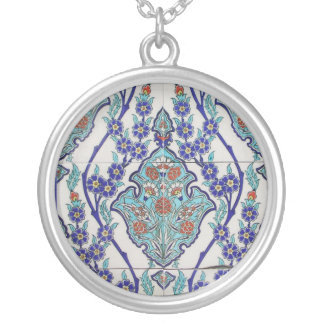 Moorish Tile Silver Plated Necklace