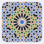 Moorish tile Square Sticker