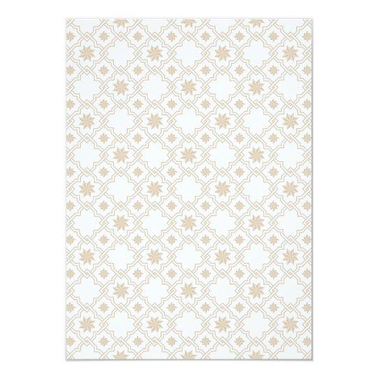 Moorish Wedding Invitation Design - Off White