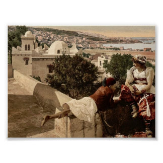 Moorish woman and child on the terrace, I,  Algier Posters