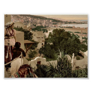 Moorish woman and child on the terrace, II, Algier Print