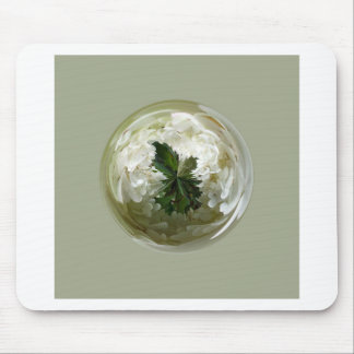 Moorlands flowers in glass globe abstract. mouse pad