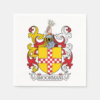 Moorman Family Crest Paper Napkin